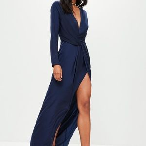 Missguided Wrap Dress with Slit